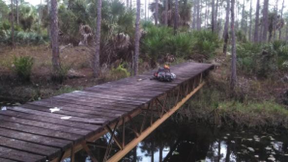 Bridge over a canal in Corbett WMA